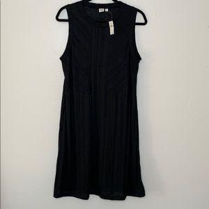 Gap black sleeveless knit dress NWT L